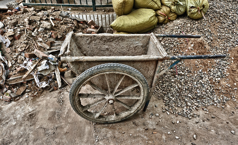 Wheelbarrow in Beijing Hutong