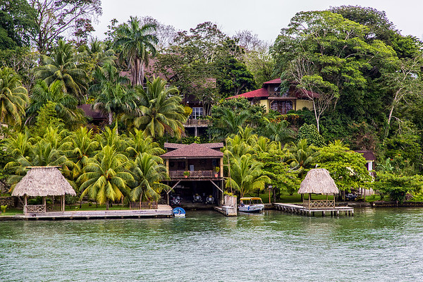 Sailing up the Rio Dulce George.