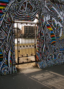 Eastside Gallery - a portion of the former Berlin Wall was left intact and is now used as a changing outdoor art gallery