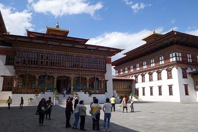 Trashi Chhoe Dzong courtyard