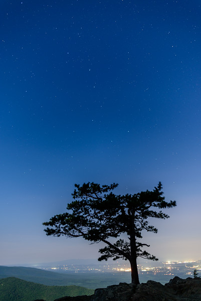 Raven's Roost on a Starry Night on the Blue Ridge Parkway.