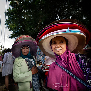 Hat vendor along the procession