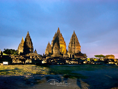Prambanan Hindu Temple by night