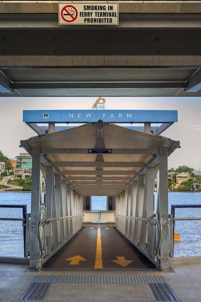 New Farm ferry pier at Brisbane, Australia