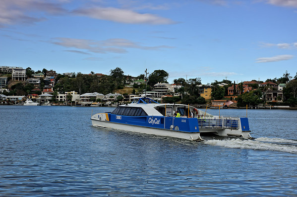 CityCat ferry on the river, Brisbane, Australia