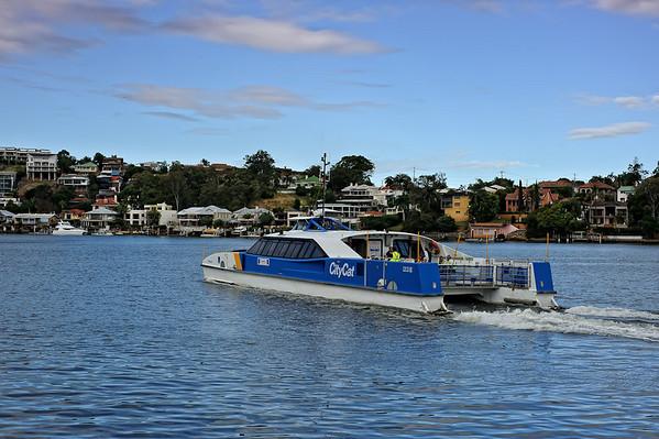 CityCat ferry on the river, Brisbane, Australia
