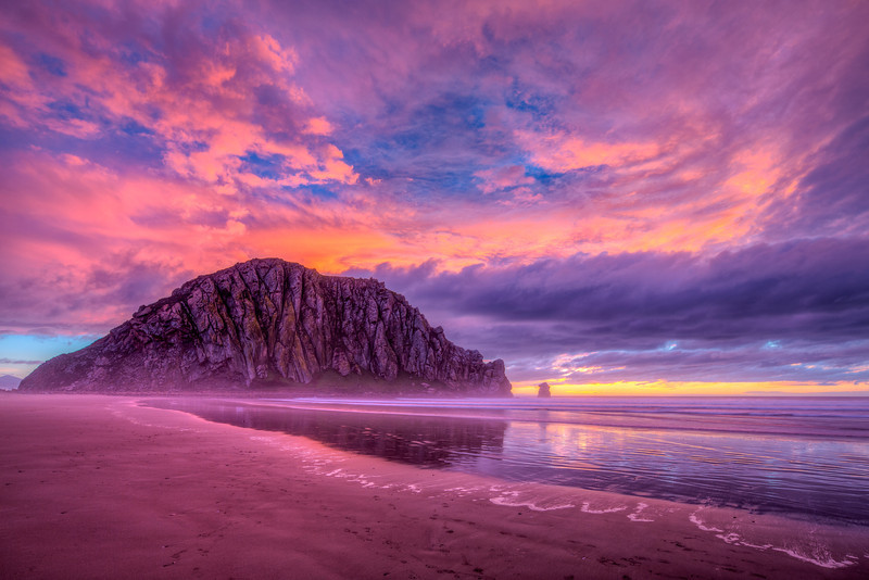 """Morro Rock Sunset"" Morro Bay, California"