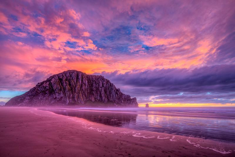 """Morro Rock Sunset"" Morro Bay, California"