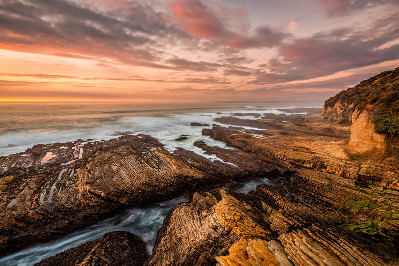 """Seascape Sunset"" Montana De Oro, California"