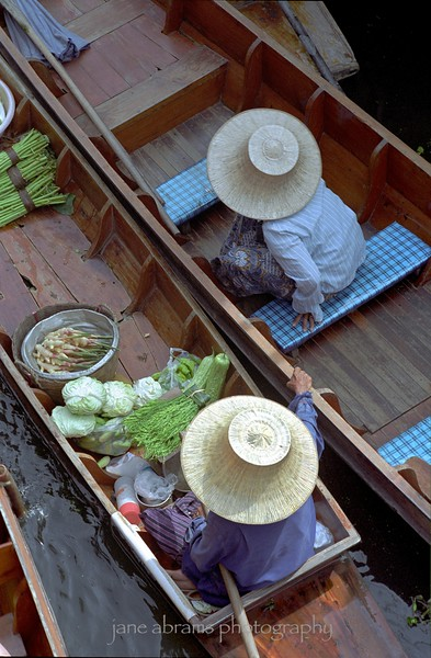 Bangkok Floating Market- this photograph hung in the Smithsonian Institution's National Museum of American History, Washington, DC 6/05 - 9/05.