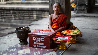 Young Monk at Angkor Wat