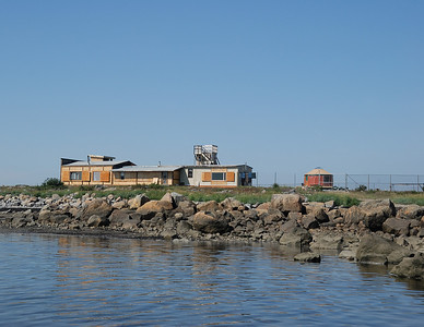 Seal River Heritage Lodge on shores of Hudson Bay with a fenced in compound. We are not allowed out of the compound unless accompanied by a guide with a shotgun. Polar bears can be anywhere.
