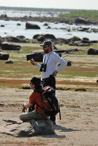 Our guides keeping a watchful eye out for a Polar Bear