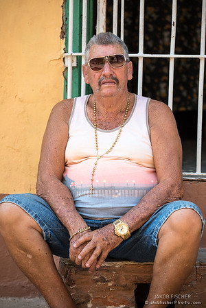 A cuban sitting in Trinidad