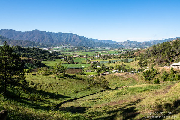 Valley of Constanza surrounded by mountains, the agricultural center of the Dominican Republic