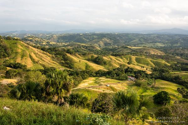 Valley around the mountains of San Jose de las Matas, Dominican Republic