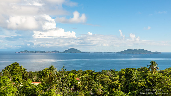 view over Islands of the Saints, Guadeloupe
