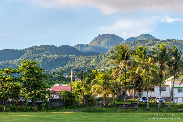 """view over volcano """"La Soufriere"""" of Guadeloupe"""