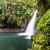 """waterfall """"Saut de la Lézarde"""" in Guadeloupe"""