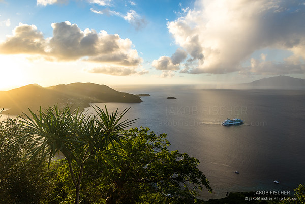 Island of the Saints during sunset, Guadeloupe