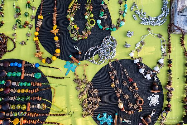 jewelry on a street market