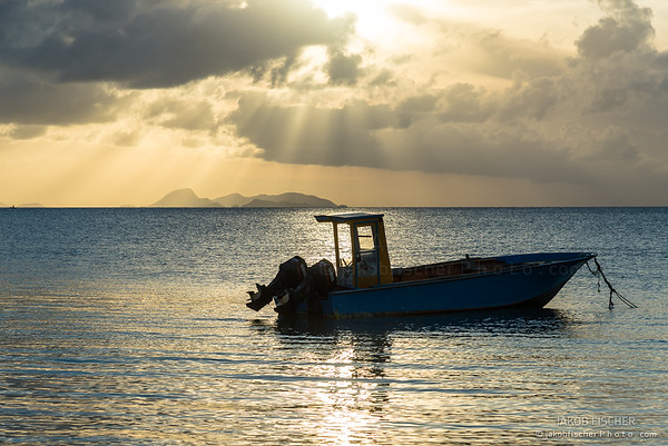 fisherboat in the bay of Saint-Louis