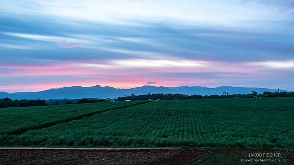 Guadeloupe at sunset