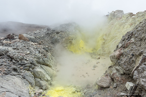 """crater of  volcano """"La Soufriere"""", Guadeloupe"""