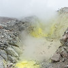 "crater of  volcano ""La Soufriere"", Guadeloupe"