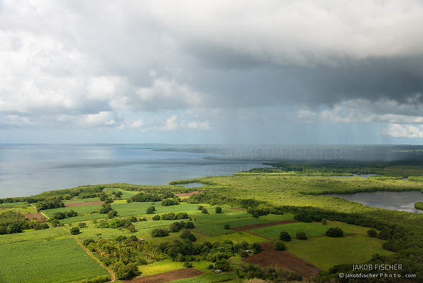 Aerial approch to Guadeloupe