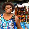 creole lady on a street food market