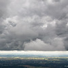 aerial view of huge cloudscape