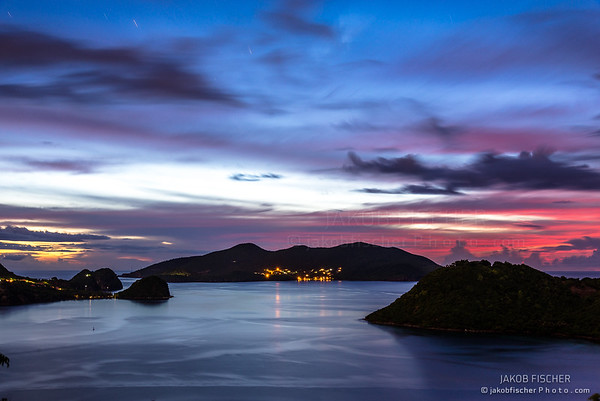 Islands of the Saints after sunset