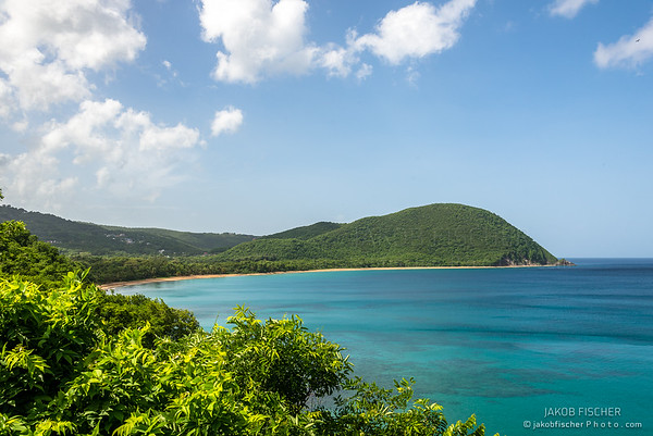 View over Bay of Grande Anse, Guadeloupe