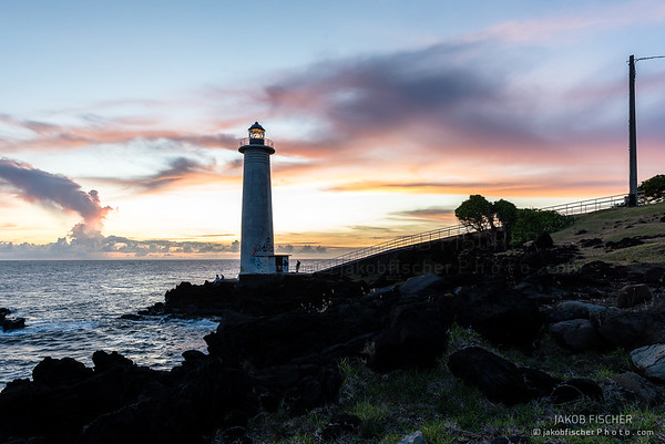 lighthouse of Vieux-Fort at sunset