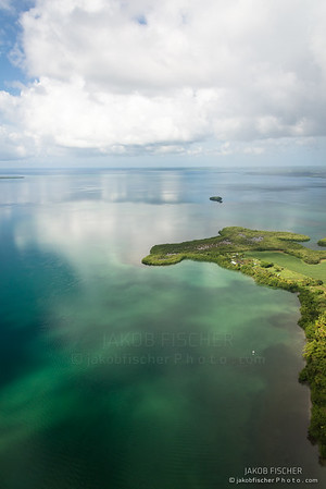 aerial approach to Guadeloupe