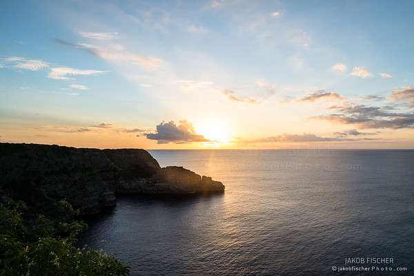 Pointe de la Grande Vigie at sunset, Guadeloupe
