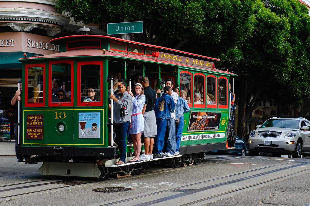 A full cable tram, San Francisco
