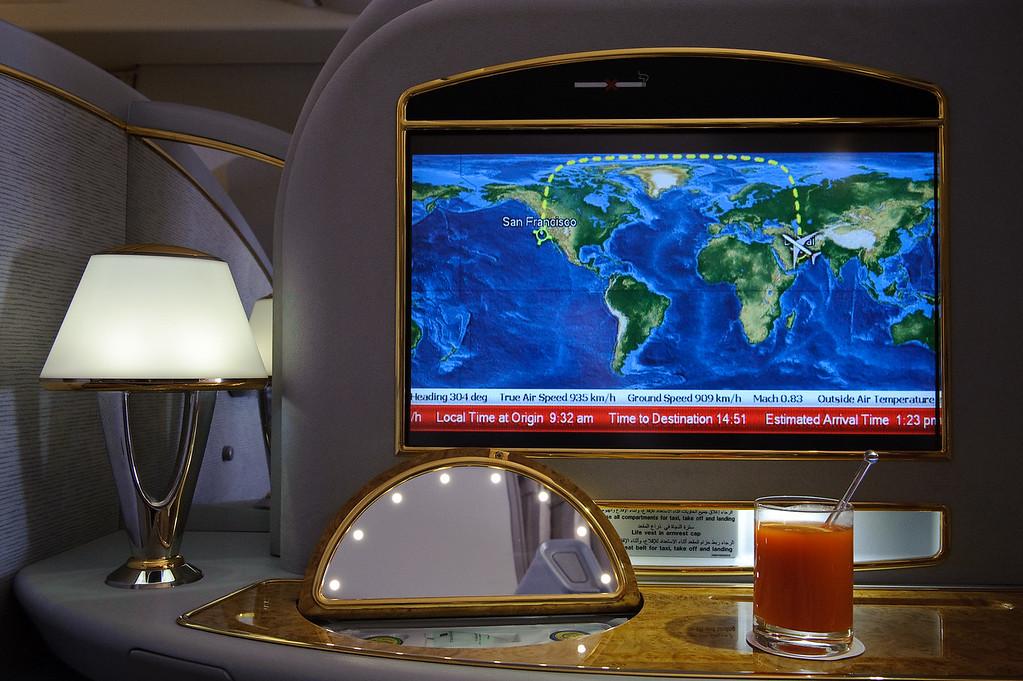 Emirates First class on EK225 DXB-SFO