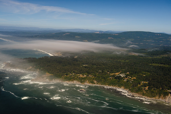 Low cloud over Oregon Coastline between Eureka-Gold Beach