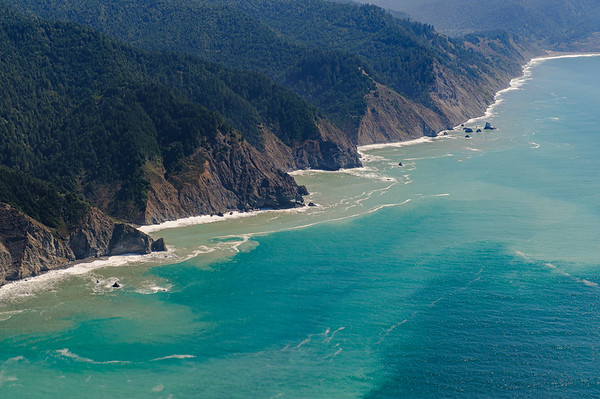 North Californian coastline between Willits and Shelter Cove