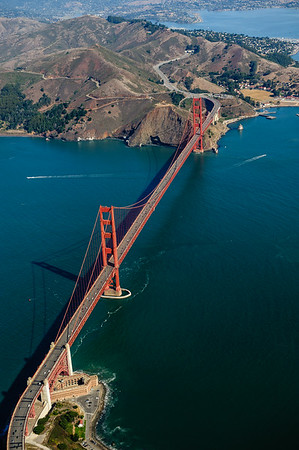 Overflying the Golden Gate, San Francisco
