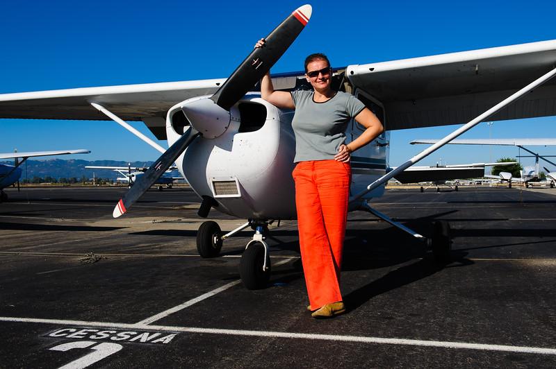 Djamila Moerman before deprture at Livermore, CA