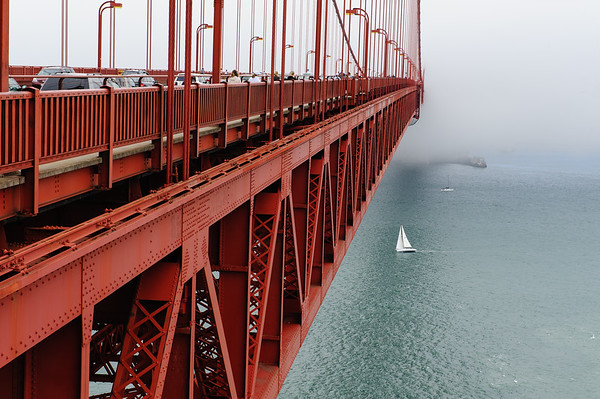 Sailing the bridge, Golden gate, San Francisco
