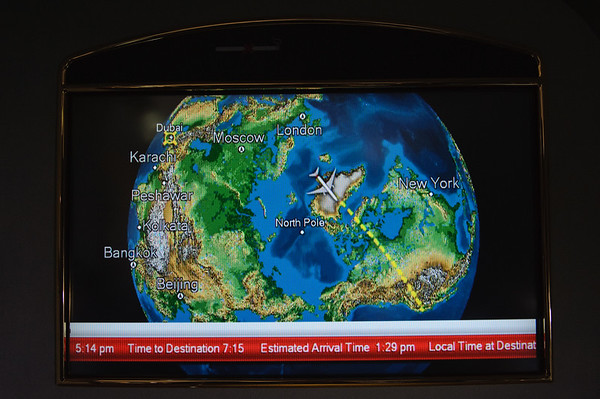 Airshow over Greenland on EK225 DXB-SFO