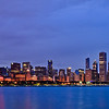 Chicago skyline, from between the Shedd Aquarium and the Adler Planetarium