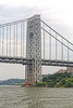 George Washington Bridge; Hudson River; New York City; New York State; USA