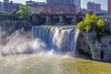 Genesee River; High Falls on the Genesee River; New York State; Rochester; USA
