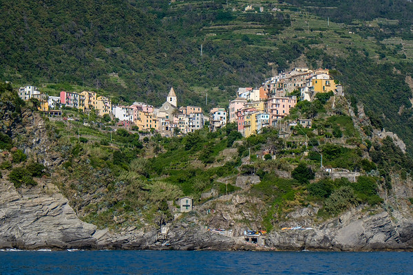 Corniglia from the sea