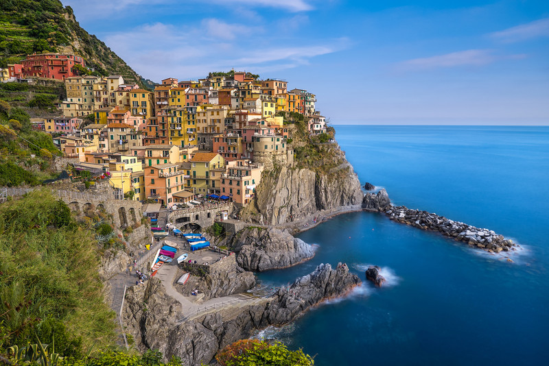 Manarola in sunset light